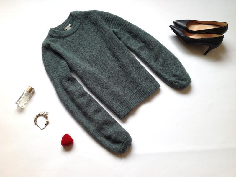 Теплый мохеровый свитер джемпер h&m
