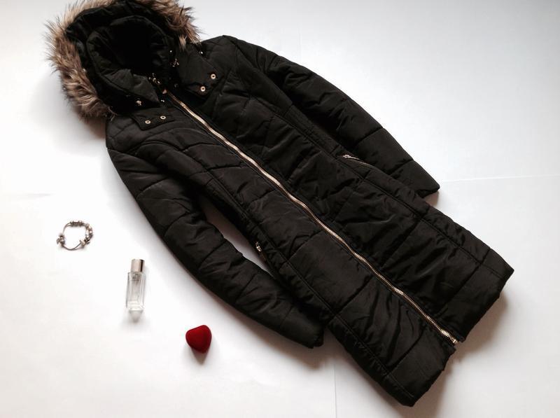 Длинная зимняя куртка плащ h&m