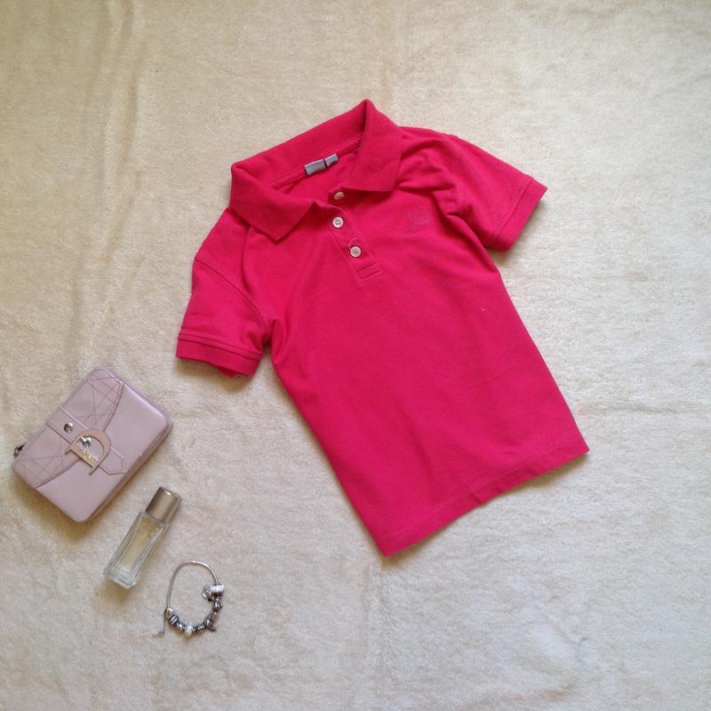 Розовая футболка поло alive