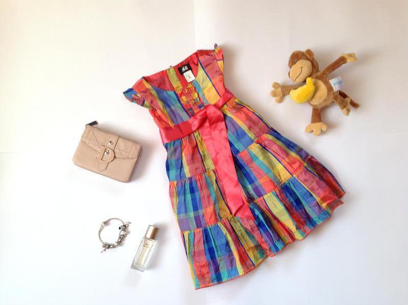 Яркое нарядное платье для девочки 2-3 года h&m. смотрите мои о...