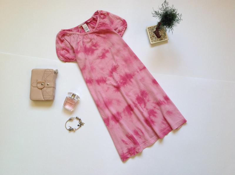 Светлое розовое платье для девочки 6-7 лет