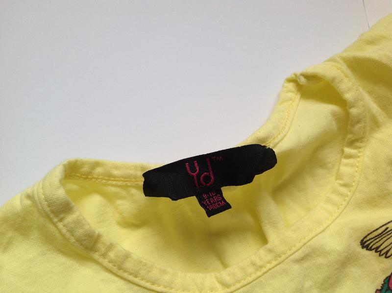 Желтая футболка для девочки 6-7 лет - Фото 2