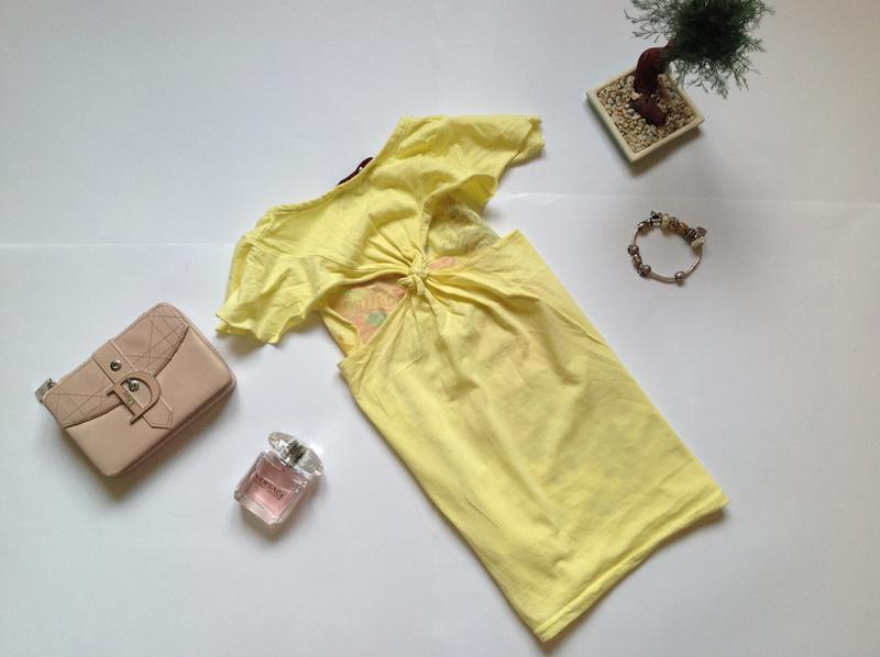 Желтая футболка для девочки 6-7 лет - Фото 3