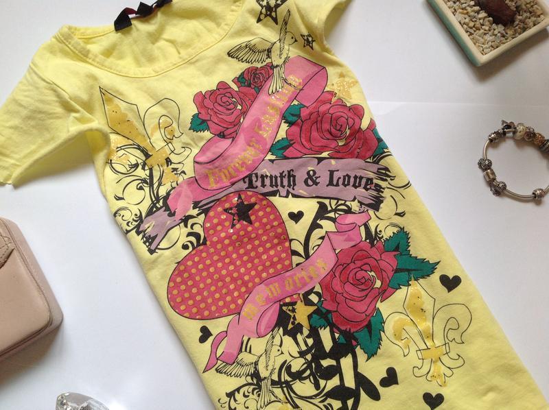 Желтая футболка для девочки 6-7 лет - Фото 4