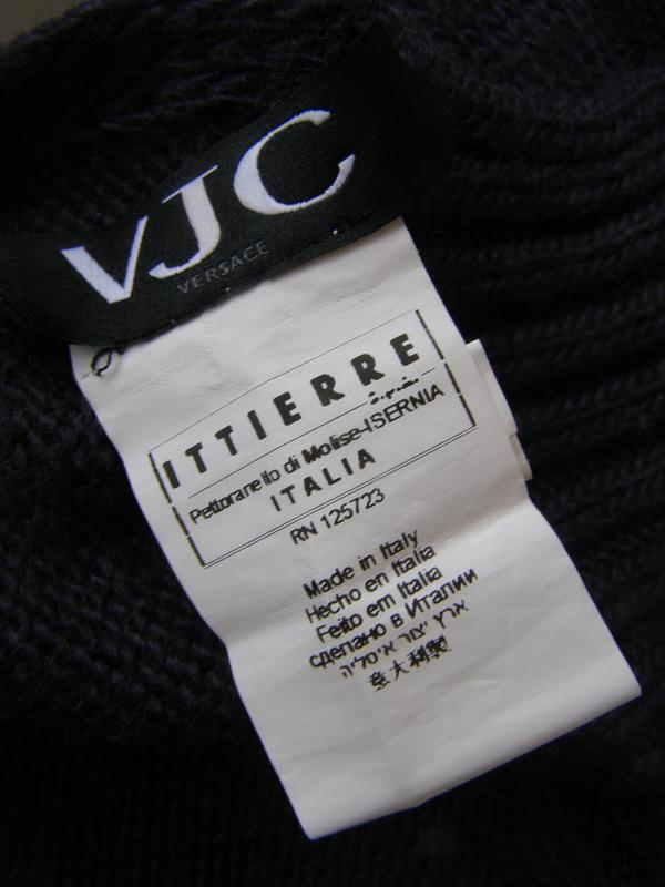 Versace теплый шарф шерсть-мохер. италия