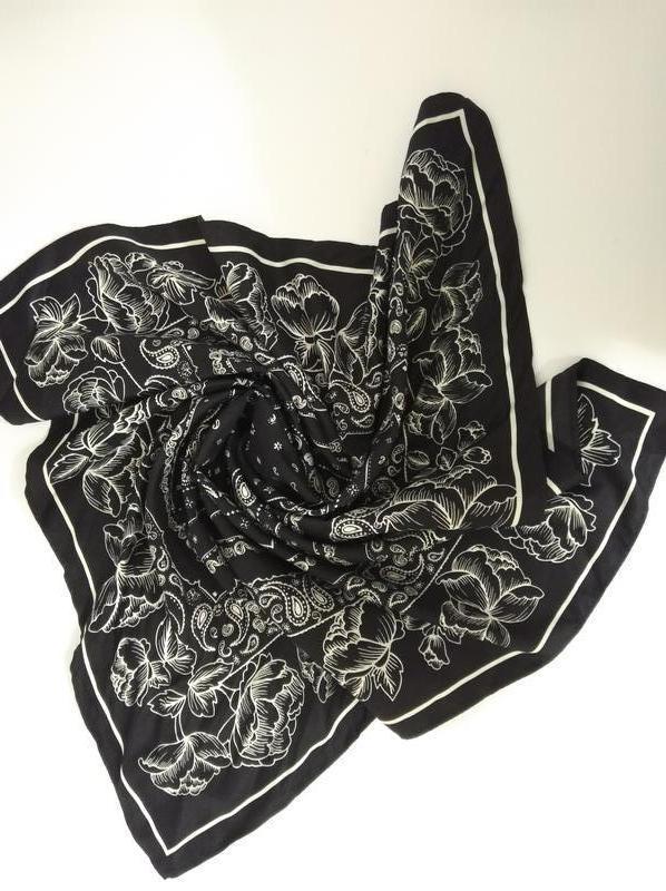 Платок косынка черно-белая h&m