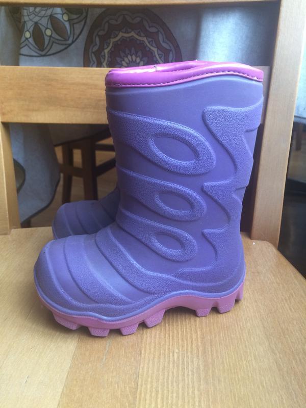 Утеплённые резиновые сапоги гумаки резинові чобітки 24-25 р. 1...