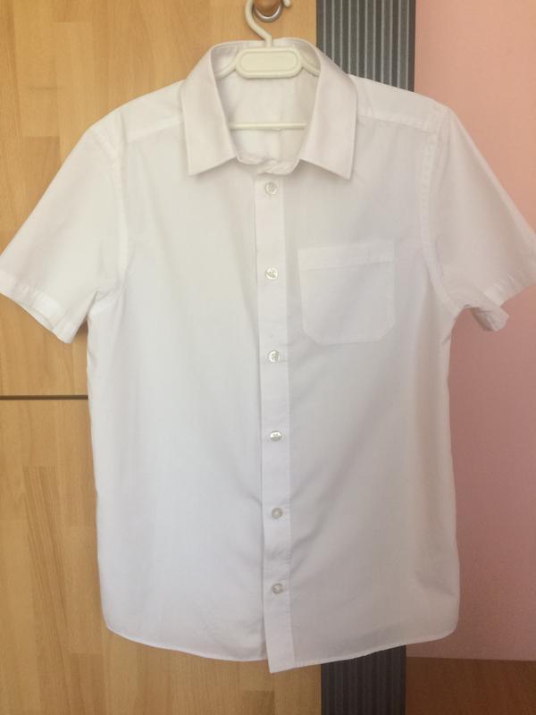 Школьная белая рубашка шведка 10-11 лет 140 см.