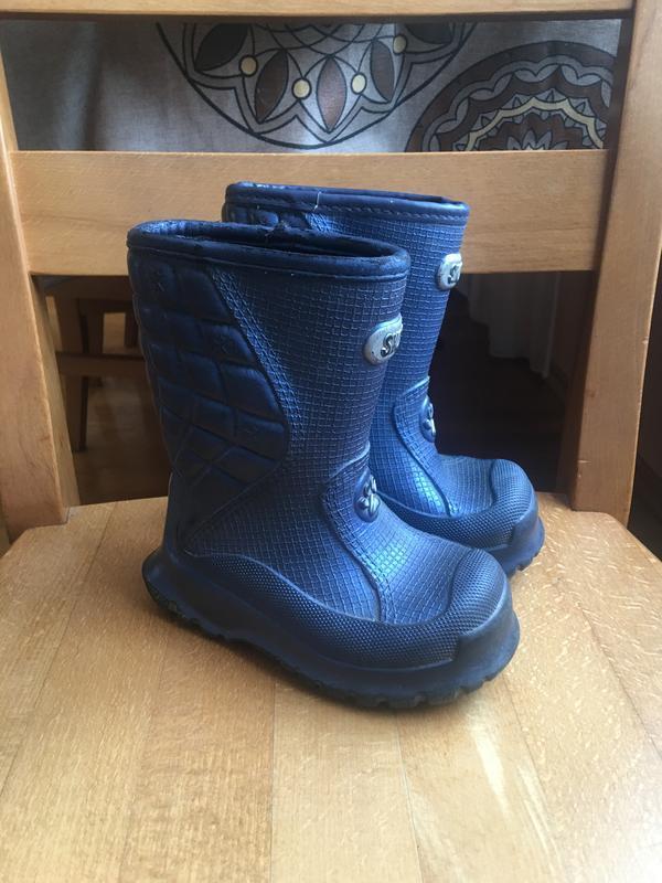 Резиновые утеплённые сапоги skofus ботинки 21-22 р. 14 см.