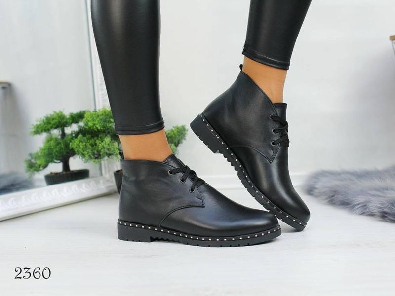 Кожаные зимние ботинки, натур. кожа 37,39р