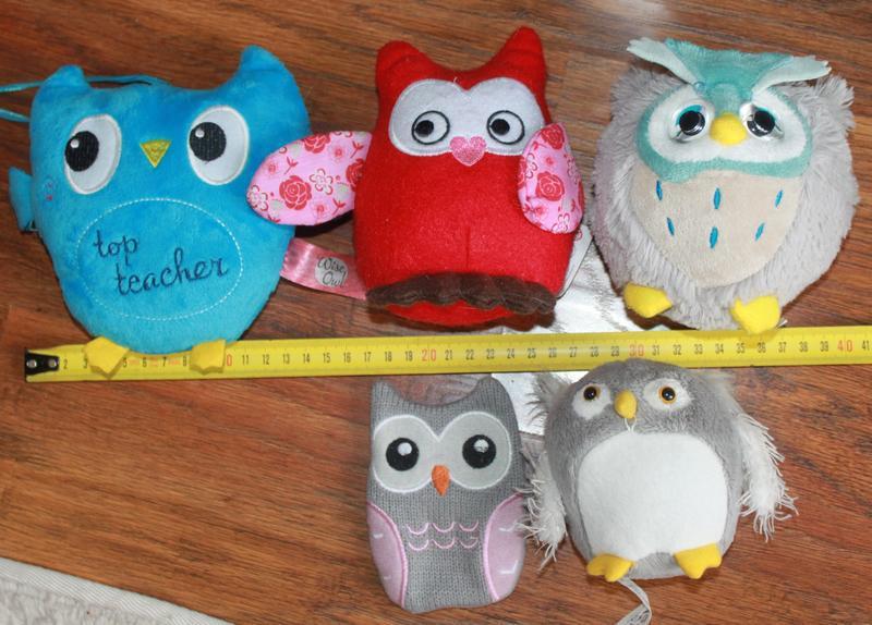 Набор игрушек сова совы мягкие