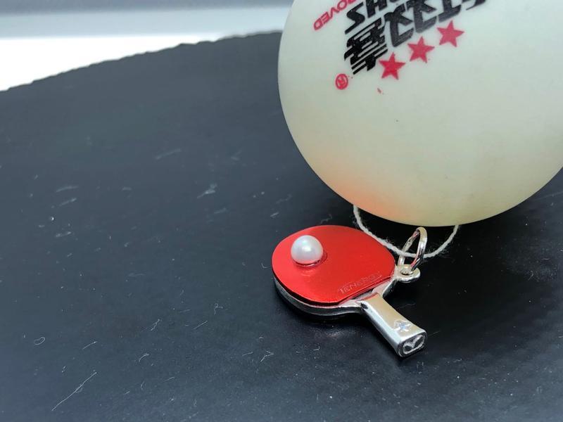 Подвеска в виде ракетки для настольного тенниса - Фото 4