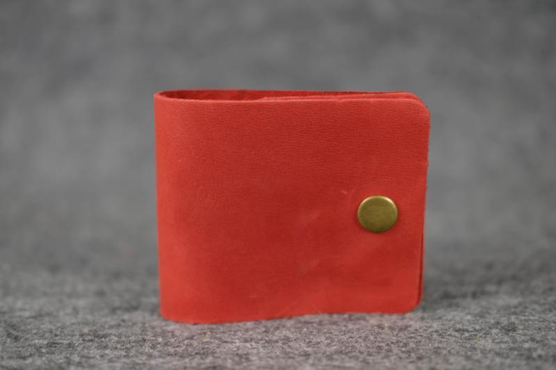 Кожаный компактный кошелек женский натуральная винтажная кожа ...