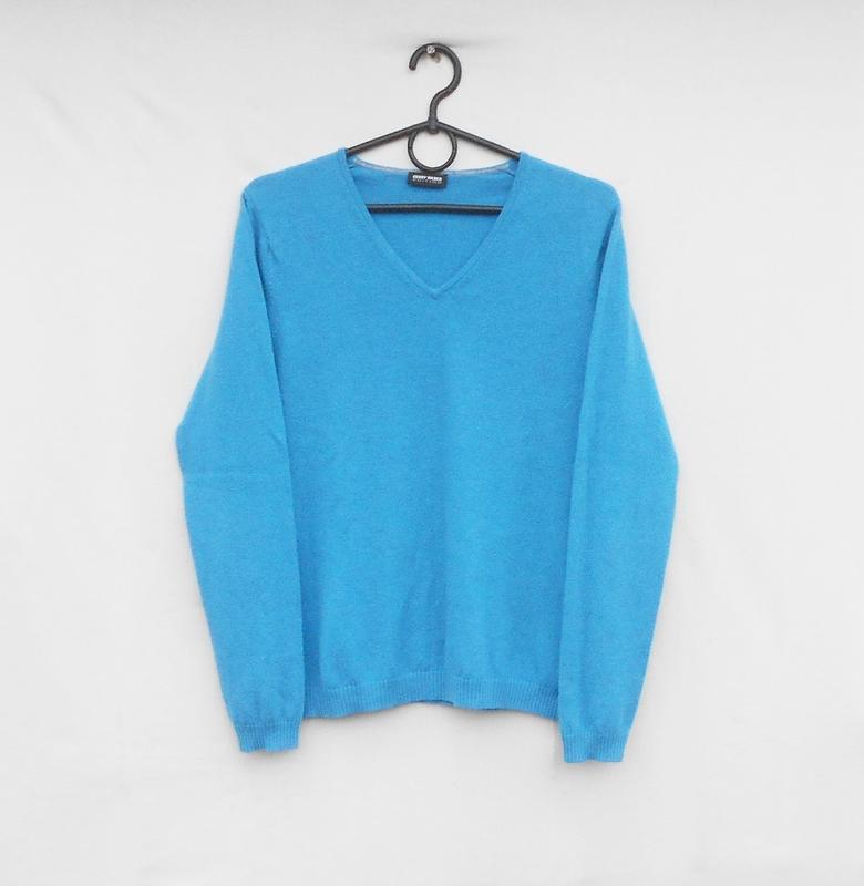 Мягкий осенний зимний свитер джемпер кашемир шерсть  с длинным...