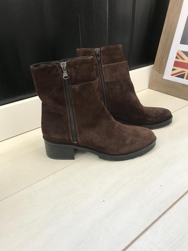 Коричневые ботинки италия 37 р