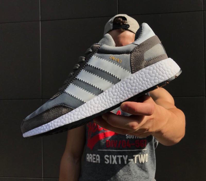 Супер скидка топовые мужские кроссовки кеды adidas iniki grey ...