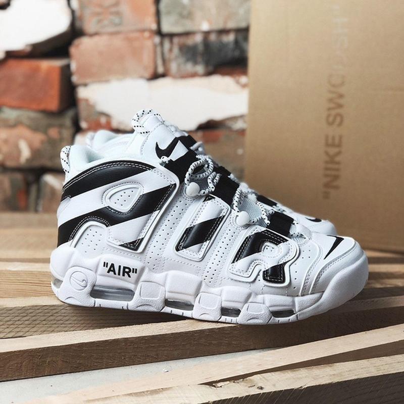 Nike air max uptempo off white белого цвета демисезонные