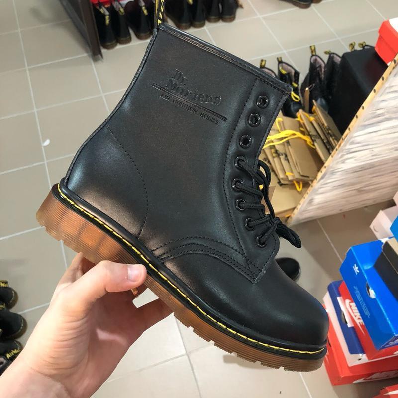 Шикарные женские ботинки dr. martens 1460 black {мех} зимние т...