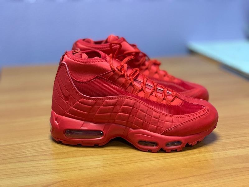 41-45 nike air max 95 sneakerboot red мужские ботинки
