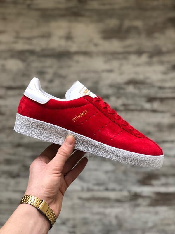 Шикарные мужские кроссовки adidas topanga red white