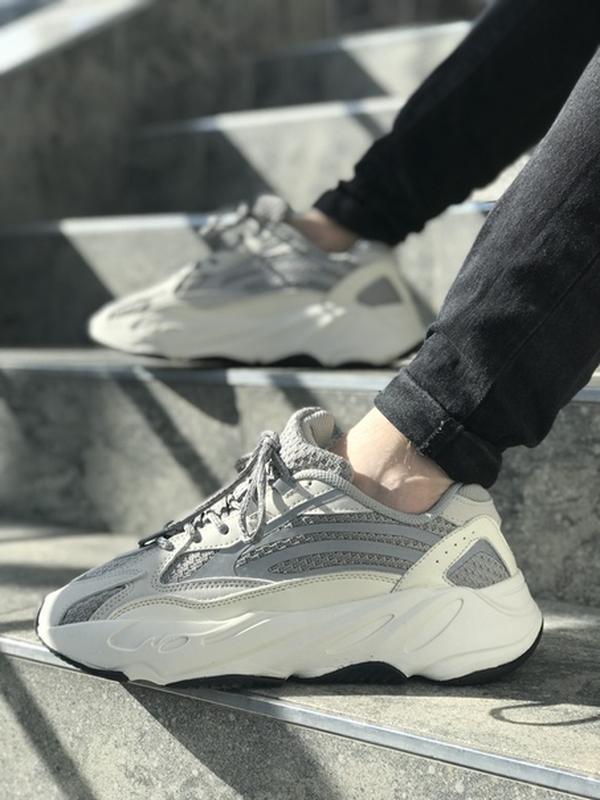 Шикарные мужские кроссовки adidas yeezy boost grey