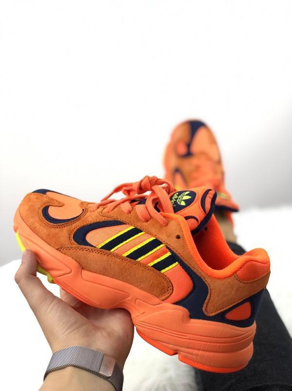 Шикарные мужские женские кроссовки adidas yung-1 orange