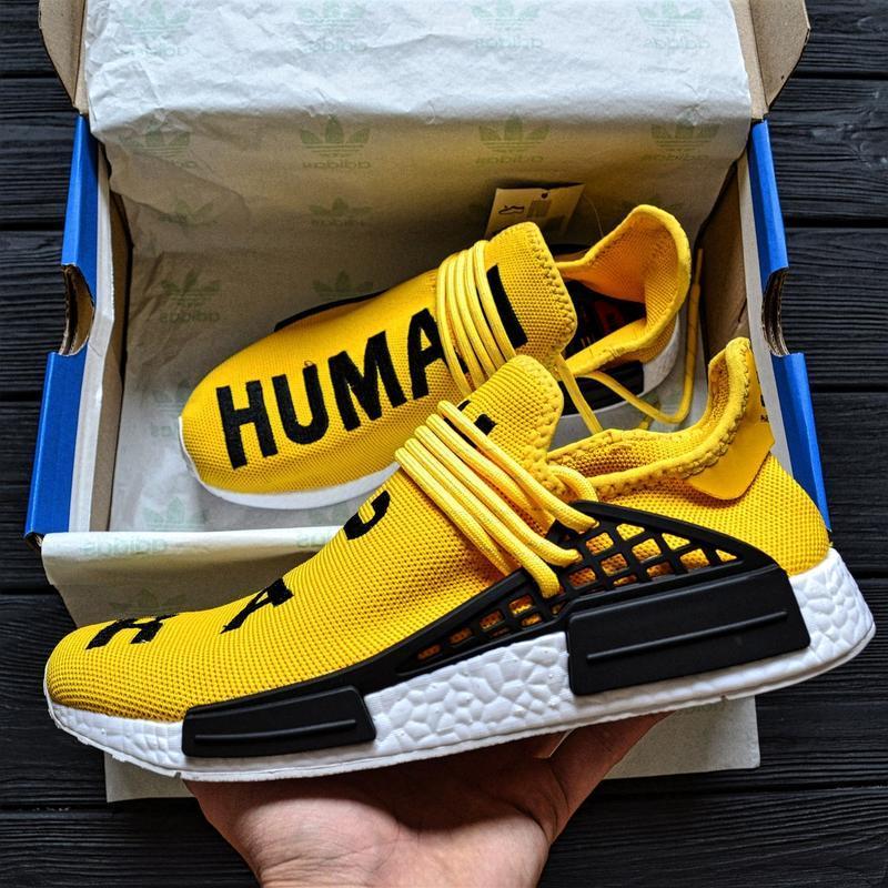 """Мужские кроссовки  pharrell williams nmd human race yellow"""""""