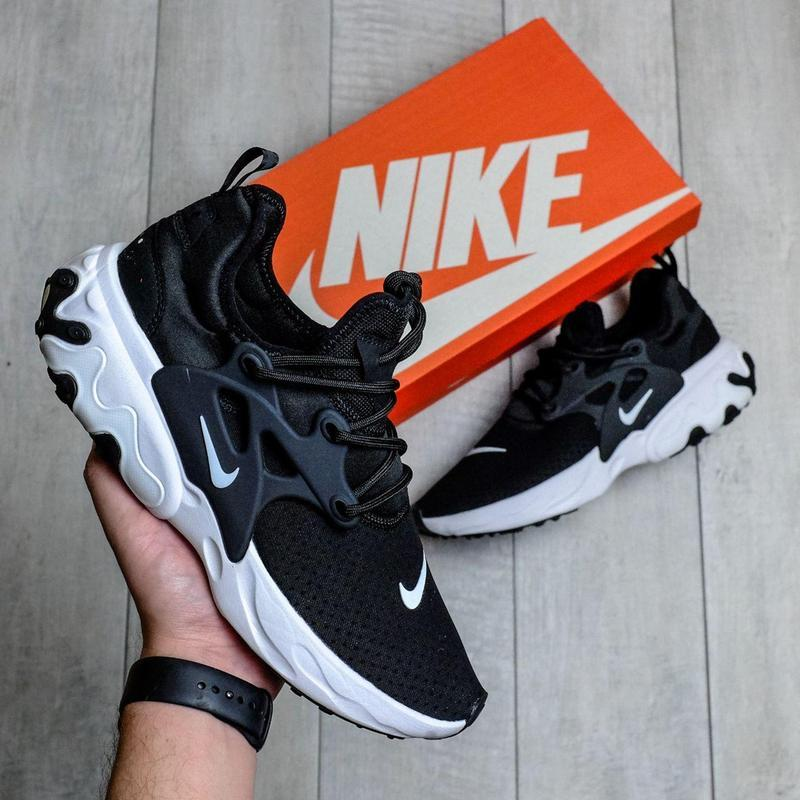 Кроссовки nike presto react black white