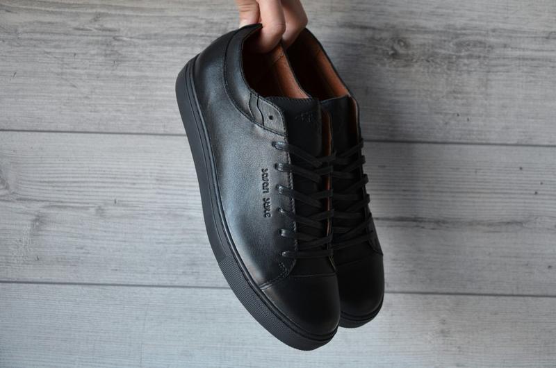 Кроссовки туфли макасины чёрные