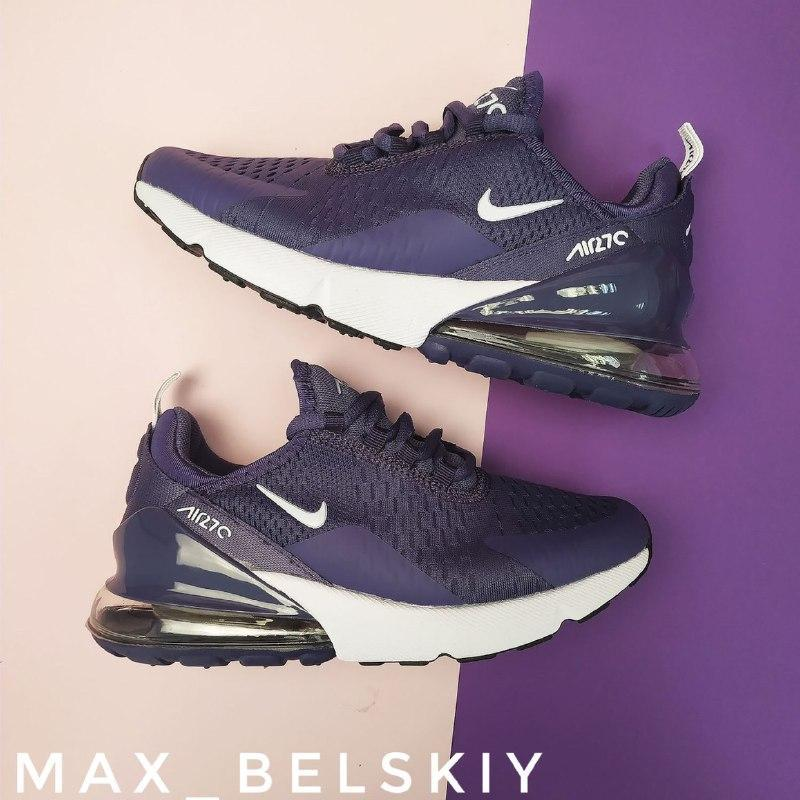 Шикарные женские кроссовки nike air max 270 purple