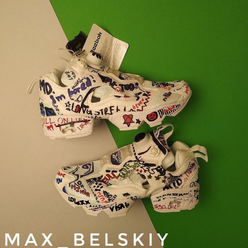 Шикарные кроссовки reebok insta pump vetements graffiti