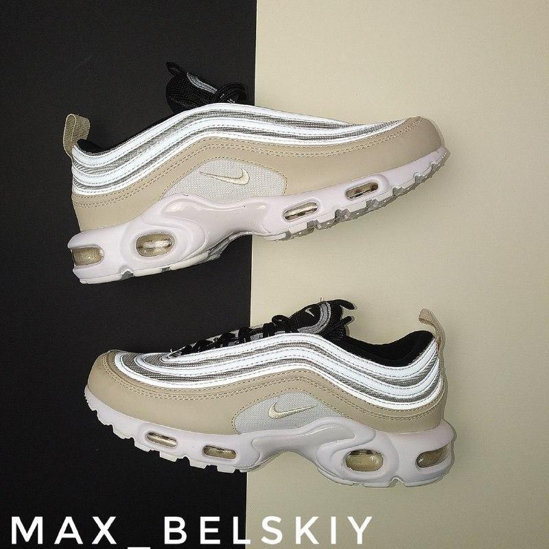 Шикарные женские кроссовки nike air max plus 97 orewood brown