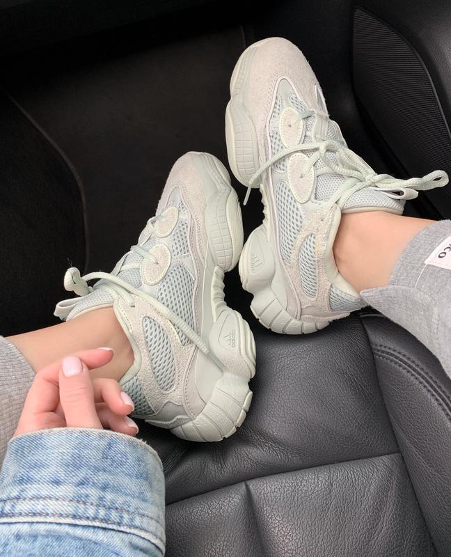 Шикарные женские кроссовки adidas yeezy boost 500 salt
