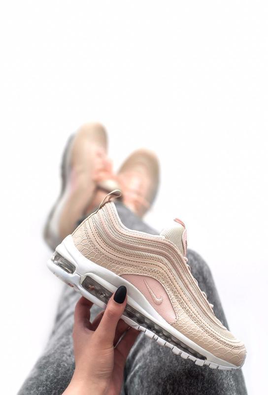 Шикарные женские кроссовки nike air max 97 pink