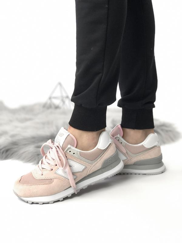 Шикарные женские кроссовки new balance 574 pink