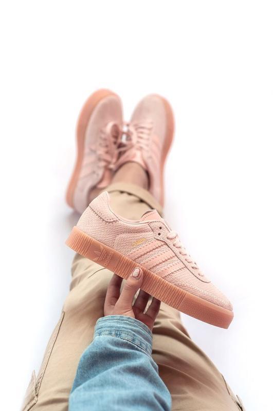 Шикарные женские кроссовки adidas samba pink