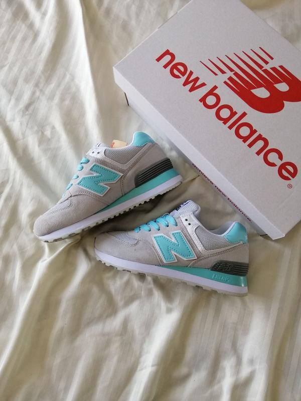 Шикарные женские кроссовки new balance 574 grey blue