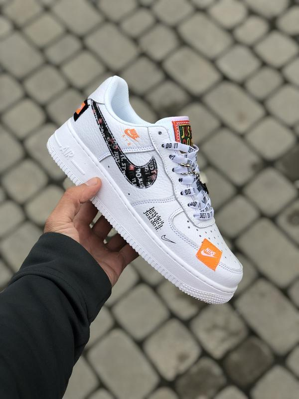 Шикарные кроссовки nike air force low 1 white just do it