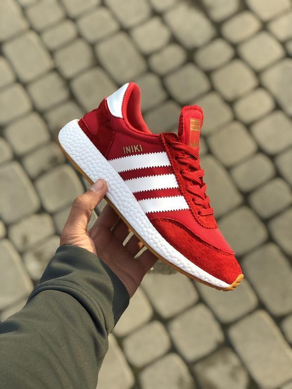Шикарные женские кроссовки adidas iniki red
