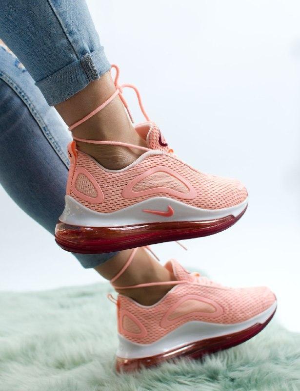 Шикарные женские кроссовки nike air max 720 pink