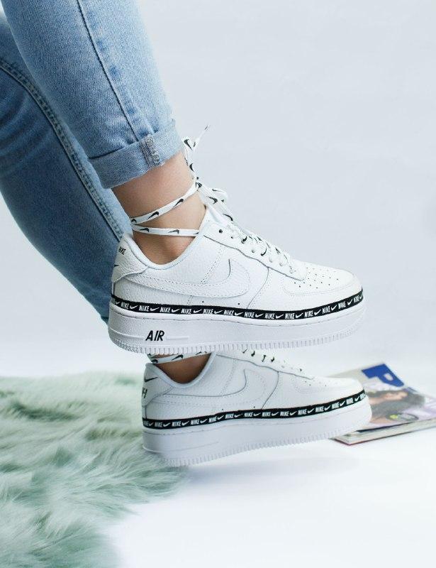 Шикарные женские кроссовки nike air force low 1 white utility