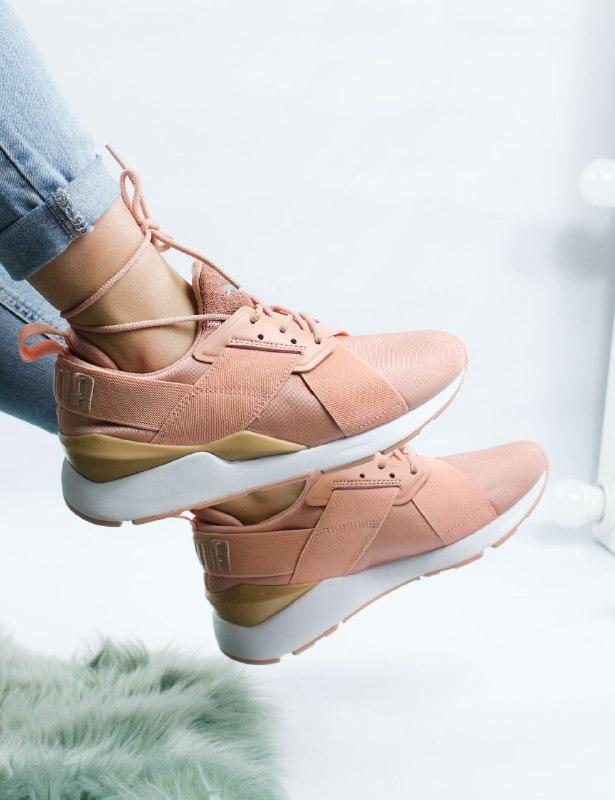 Шикарные женские кроссовки puma muse pink
