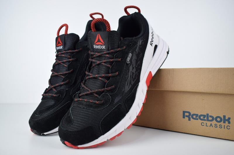 Шикарные мужские кроссовки reebok one sawcut gtx черные с красным