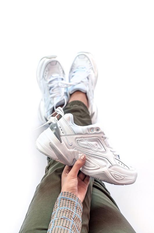 Шикарные женские кроссовки nike m2k tekno white grey