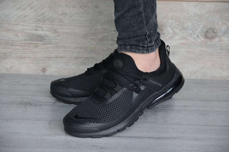 Шикарные кроссовки мужские чёрные nike air presto