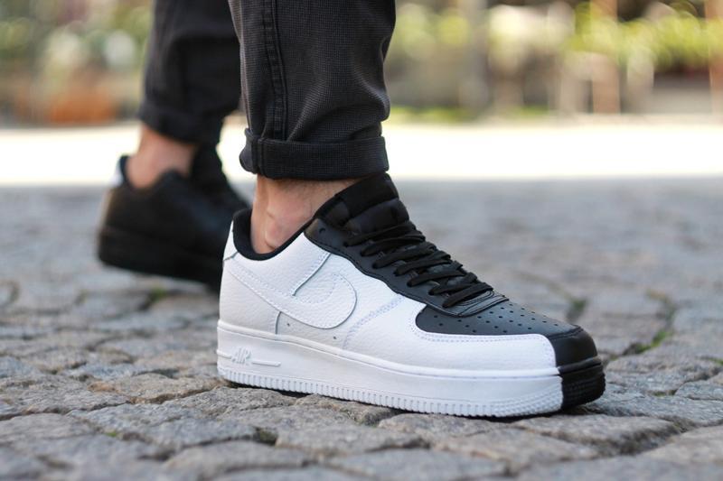 Шикарные мужские кроссовки nike air force low 1 white black