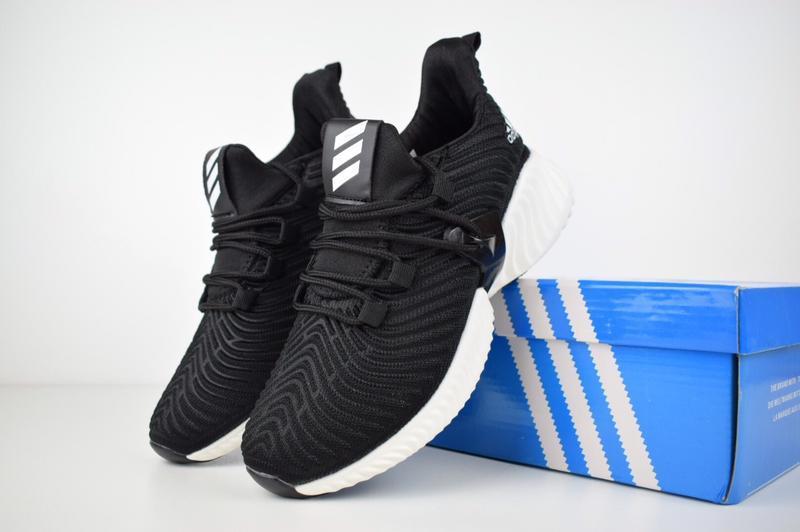 Шикарные женские кроссовки adidas alphabounce instinct чёрные
