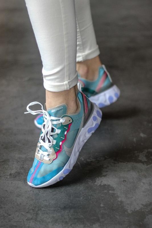 Шикарные женские кроссовки nike react element 87 royal tint blue