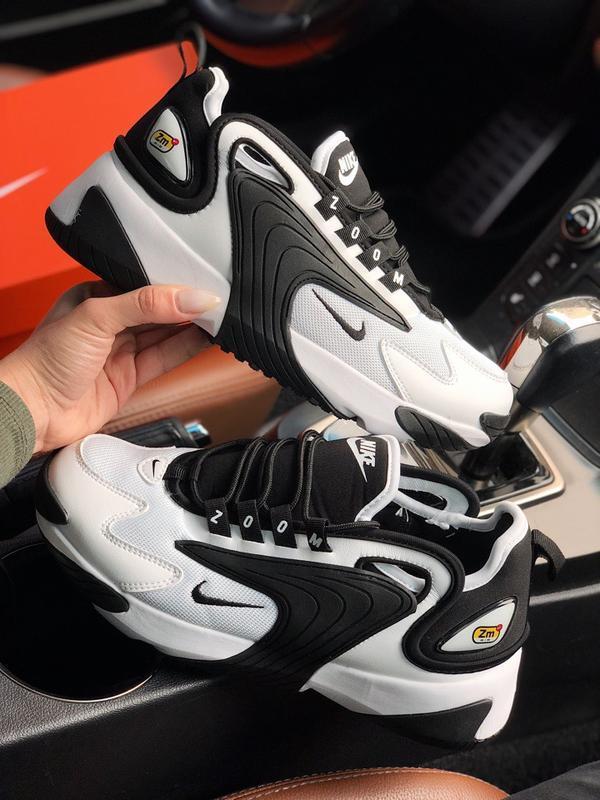 Шикарные мужские кроссовки zoom 2k black white