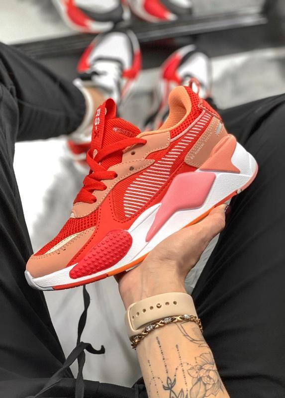 Шикарные женские кроссовки puma rs-x thunder red